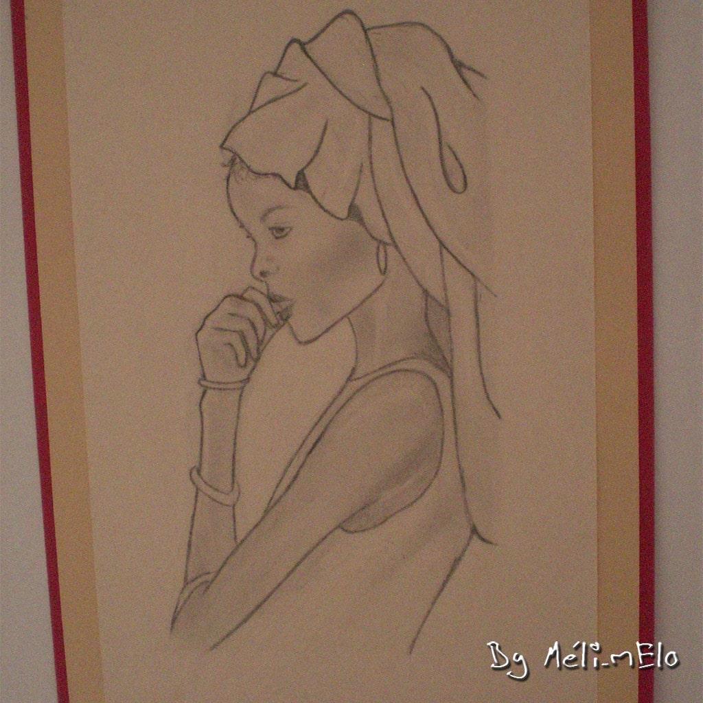 Dessins d 39 une jeune geisha et d 39 une jeune afracaine - Africaine dessin ...