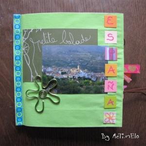 Un mini album paperbag pour illustrer mes diverses vacances en Espagne.