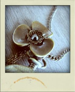 sautoir montre vintage