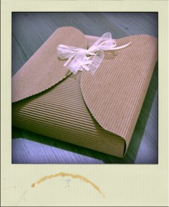 paquet cadeau DIY