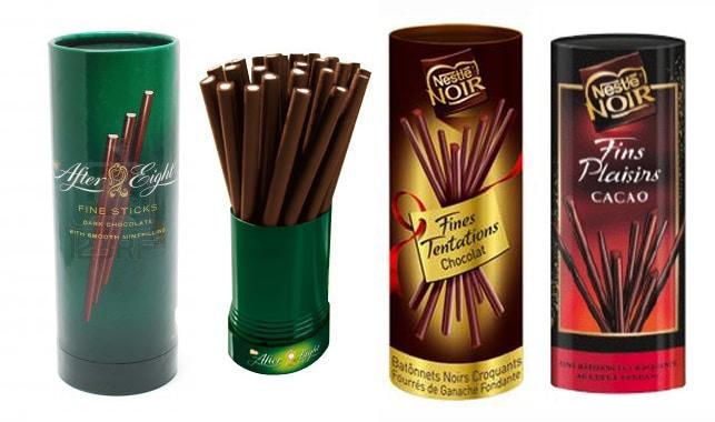 Boîtes sticks chocolat