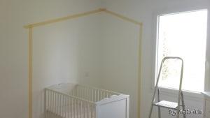 bande cache peinture maison