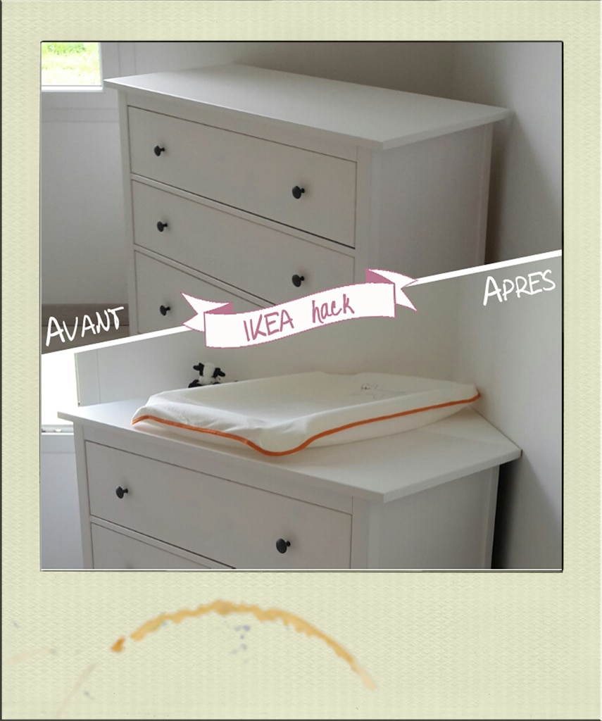 Table langer d 39 angle diy ikea hack - Ikea bebe table a langer ...