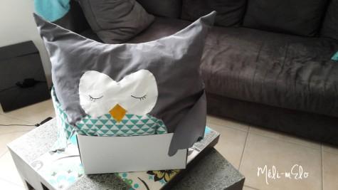 Peluche géante hibou cadeau de naissance