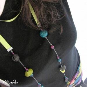 sautoir écharpe cabane à perles