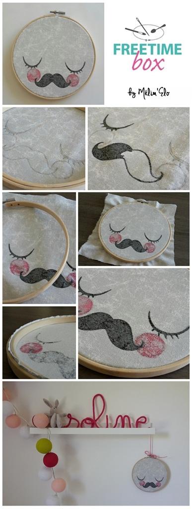 Tuto cadre rond lune à moustache