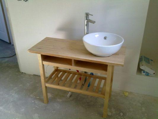 Meuble de salle de bain diy - Plan de travail salle de bain ikea ...